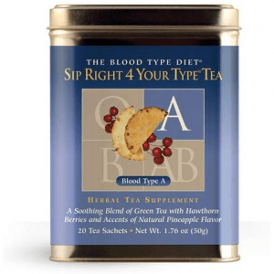 Sip Right 4 Your Type Tea A D'Adamo Personalized Nutrition